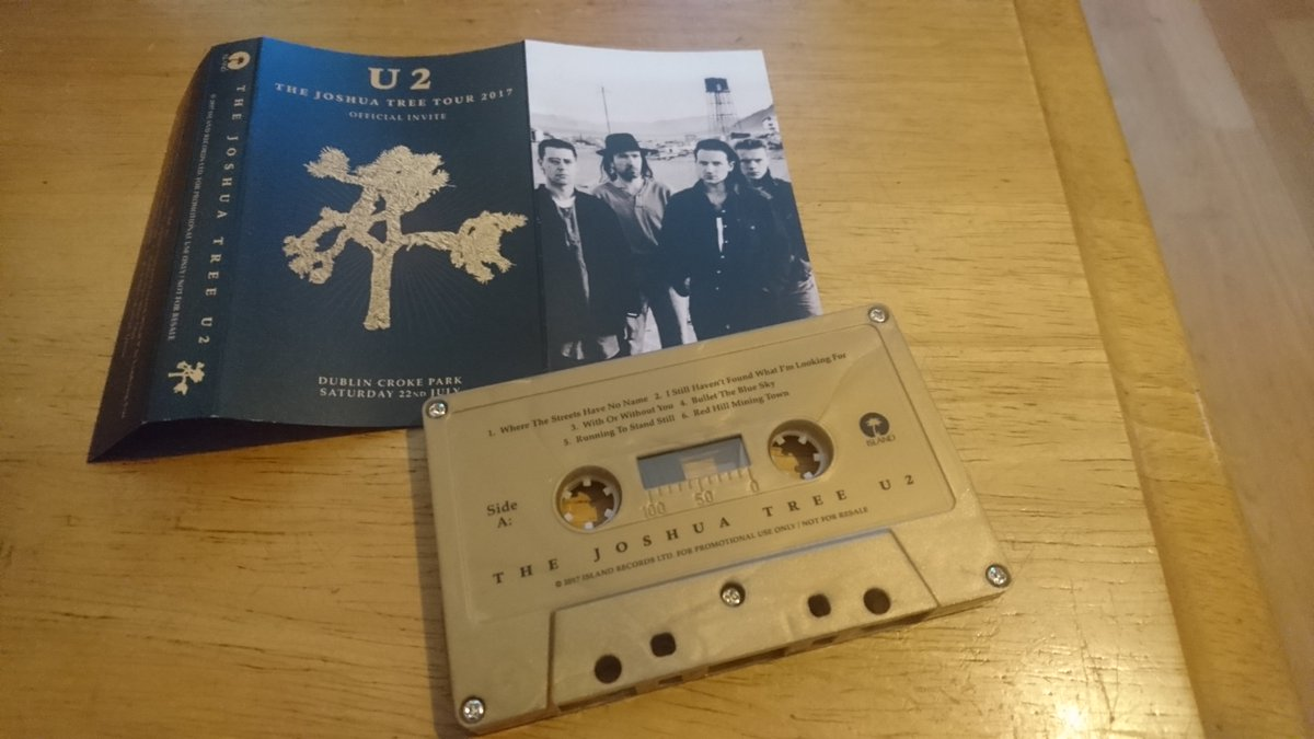 Chuffed to get this today. Came over all nostalgic hearing the rattle cassettes make in the case! @U2 https://t.co/iH8LaY0419