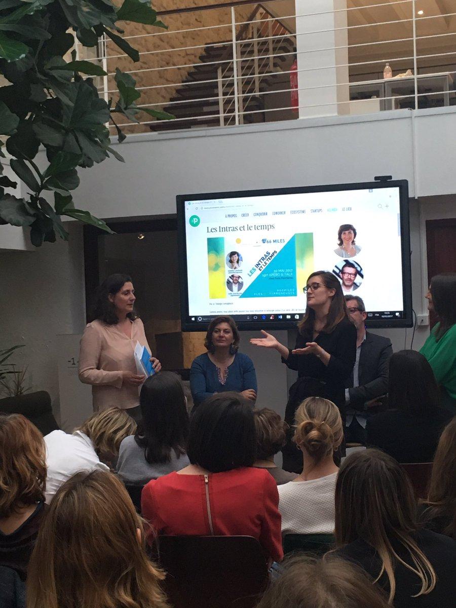 Lucile, Program Manager chez @fivebyfiveio, présente LE programme qui veut remettre les femmes au cœur du processus d'innovation ! #66miles pic.twitter.com/xhPPcagDSc