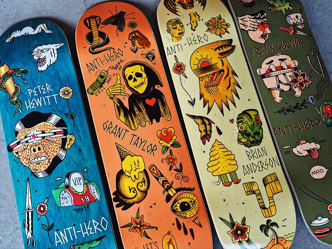 Skatedeluxe On Twitter Tattoos On Decks Antihero