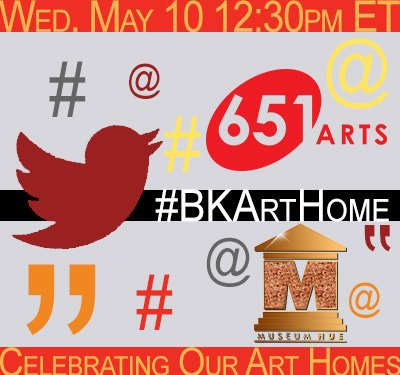 TODAY'S THE DAY! We invite u into our think-tank for this LAST #BKArtHome convo @ 12:30p ET. @monica_muses of @museumhue is comin - are you? https://t.co/tJGjXXdgk2