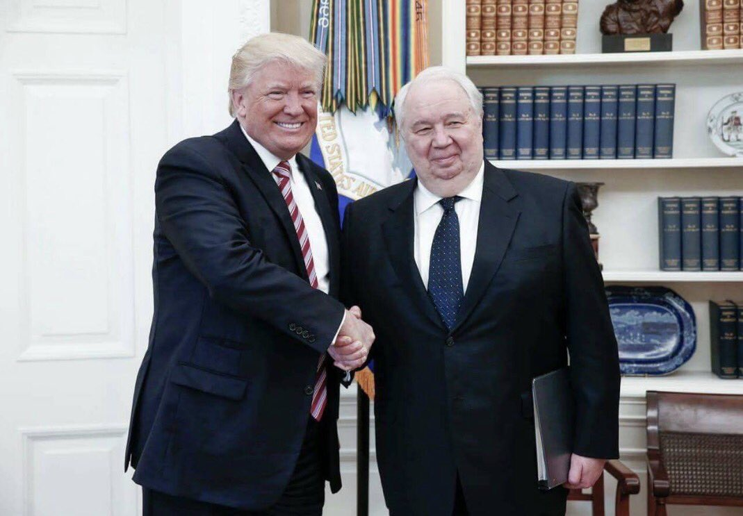 These photos of Trump-Russia meetings are courtesy solely of Russian MFA because no US press allowed in.