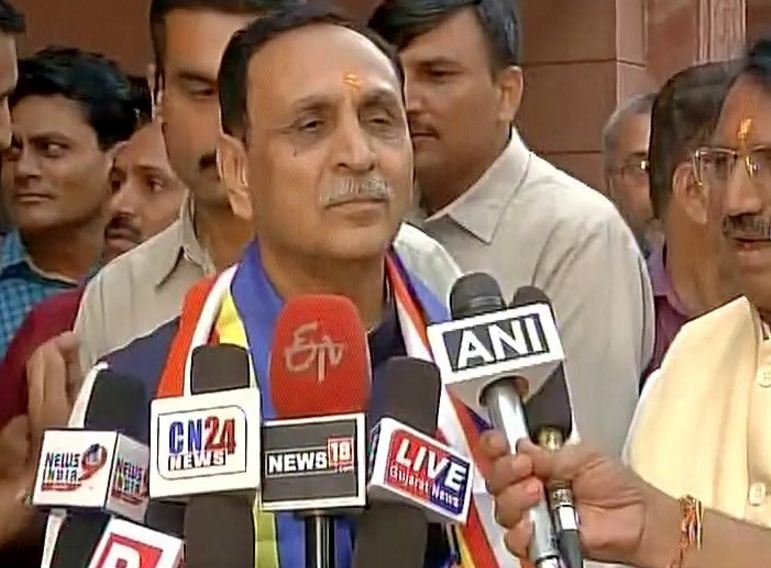 Frustrated over crushing poll defeat in UP, Akhilesh was issuing cheap statement: Rupani