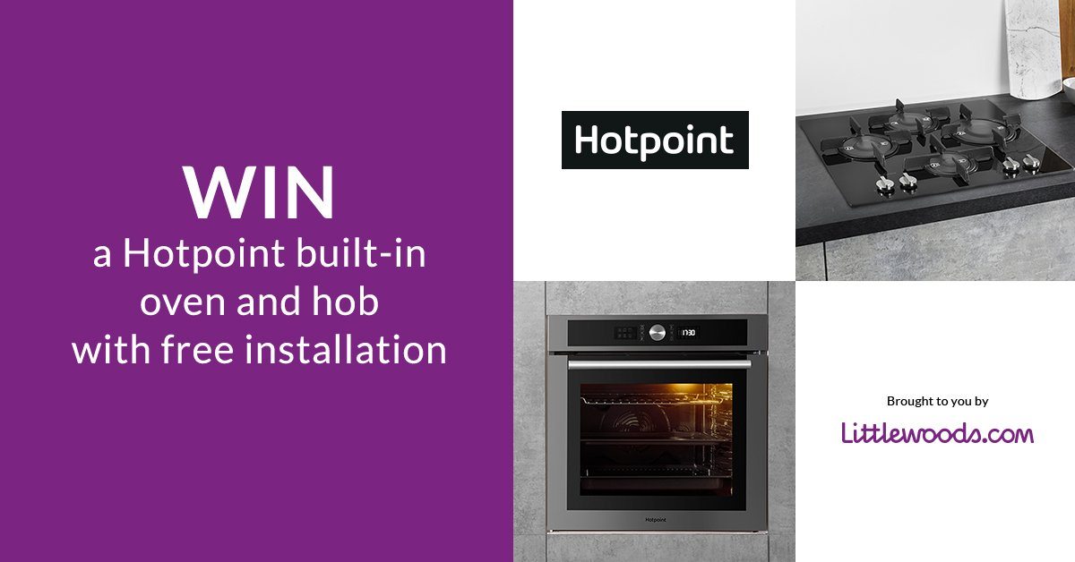 Simply follow & RT to #win a Hotpoint built-in oven and gas hob! T+Cs apply: https://t.co/DSsAZTwc4z https://t.co/ZiMa3Zjf39