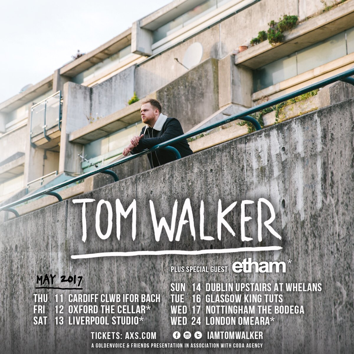 Excited to announce @ethammusic is jumping on the @IamTomWalker tour! Catch him live over the next few weeks! https://t.co/pwszHByUTi