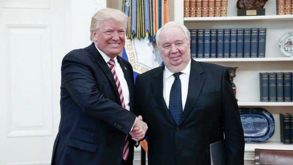 Something is invisibly connecting these photos - #Trump #Kislyak and #PACE&#39;s #Agramunt #Assad. It&#39;s #Russia, digging holes in free world... <br>http://pic.twitter.com/e38gHvu9Uv
