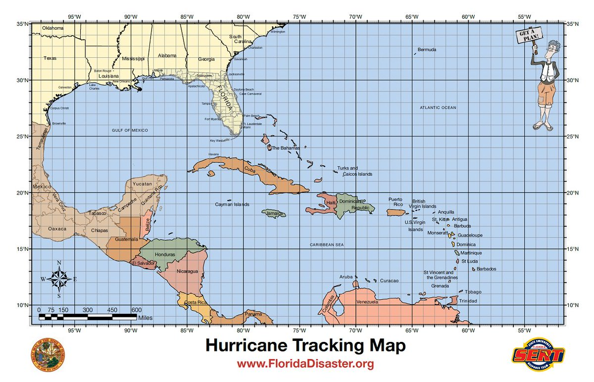 It is a photo of Versatile Printable Hurricane Tracking Chart