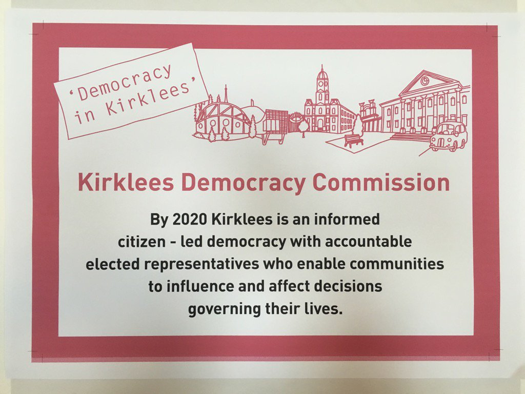The Kirklees Democracy Commission are aiming to grow a stronger local democracy here in Kirklees. #kirkdemocracy https://t.co/56Gd3uUOGJ