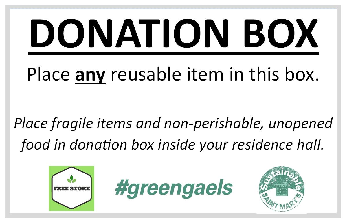 If you see the sign, and its a reusable item... donate it! #moveout #omgsmc #greengaels https://t.co/vsSZgbN8OP