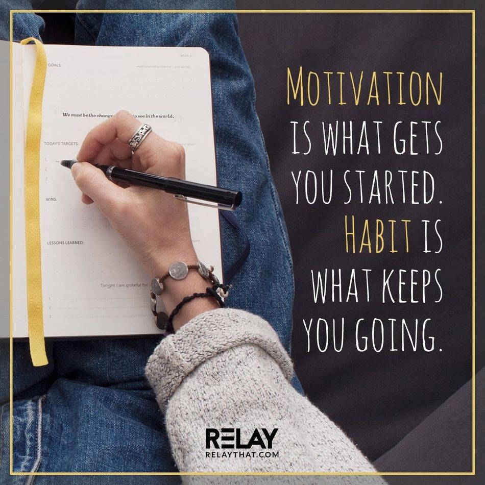 Motivation is what gets you started. Habit is what keeps you going. https://t.co/rPramcNitf via @relaythat https://t.co/01ub7HSeav