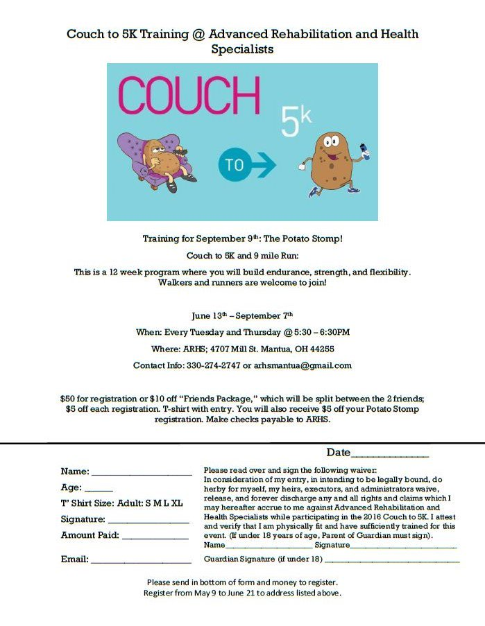 Want to run in the Potato Stomp? Need help training? Sign up for our Couch to 5K!  https://docs.google.com/forms/d/e/1FAIpQLSe0cXiStZc71ZbMdHejtmFQfBqGaB7VesNmfIVTJVN10R-Dyw/viewform?usp=sf_link …