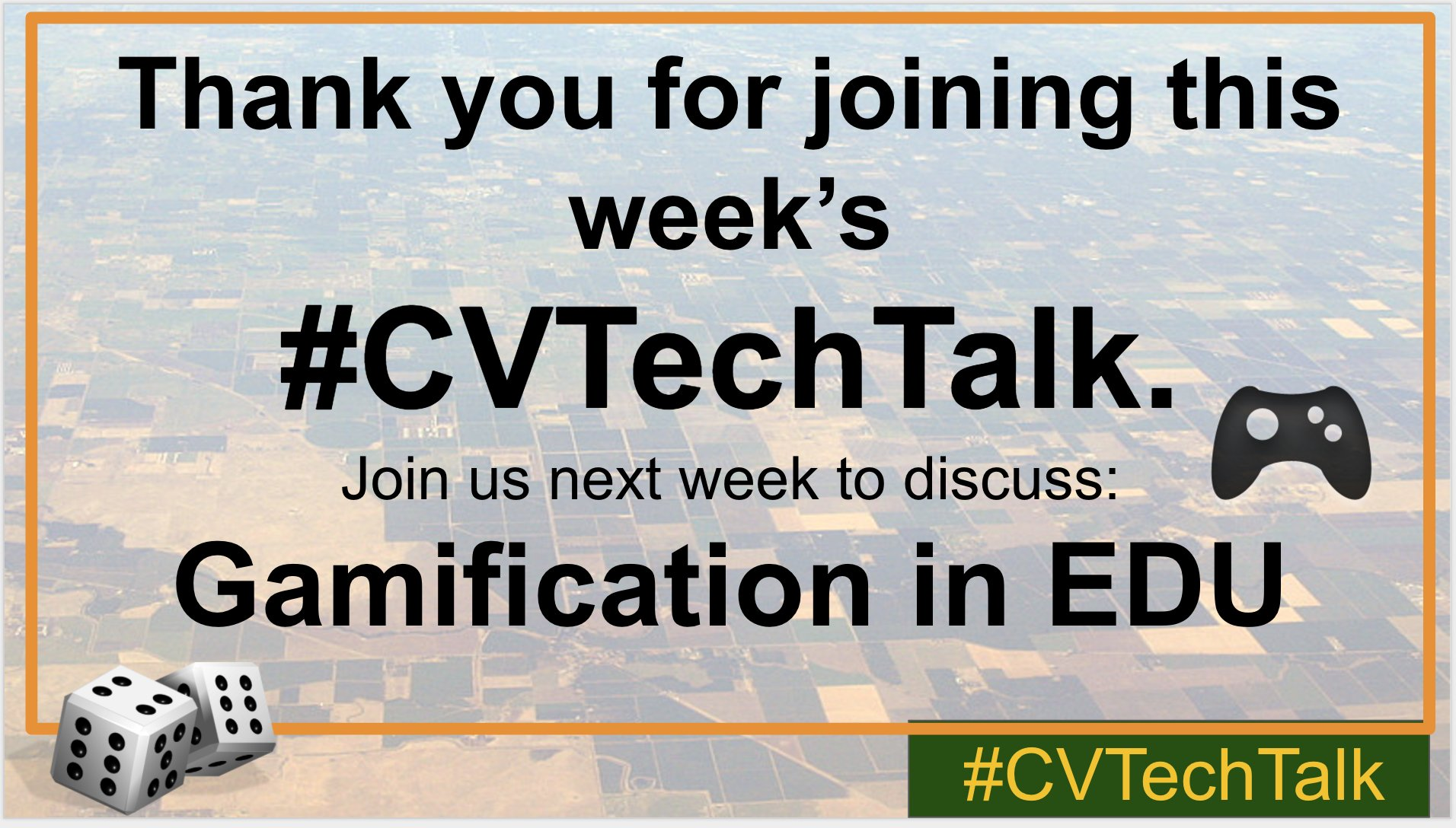 Thank you for joining this week's #cvtechtalk. Join us next week to discuss: Gamification in EDU https://t.co/K2SWi3XIGs