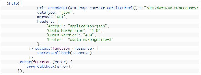 Execute Web API request using Angular JS in Dynamics CRM
