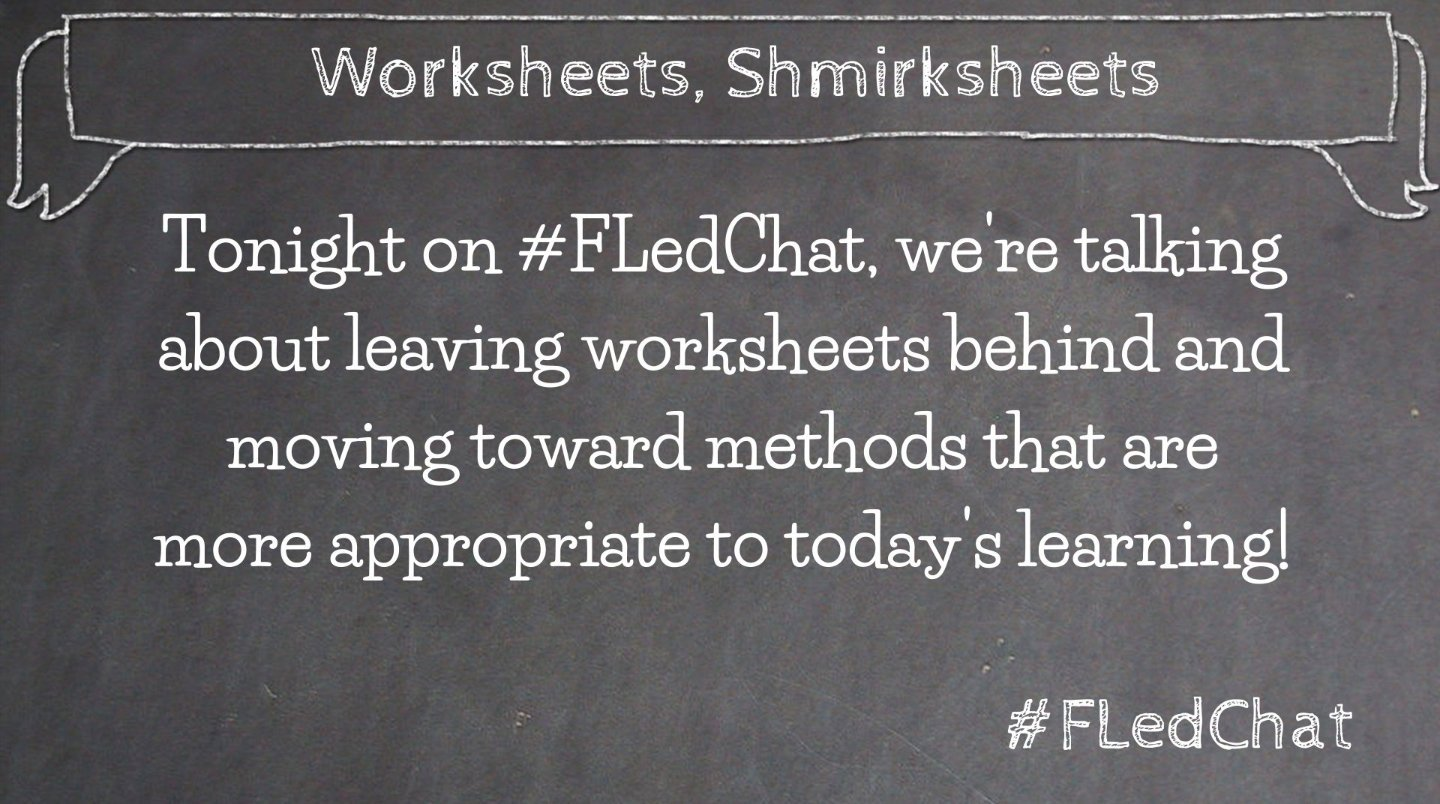 Join us with our Mystery Moderator tonight @8pm. #FLedChat https://t.co/U2eDh3chhL