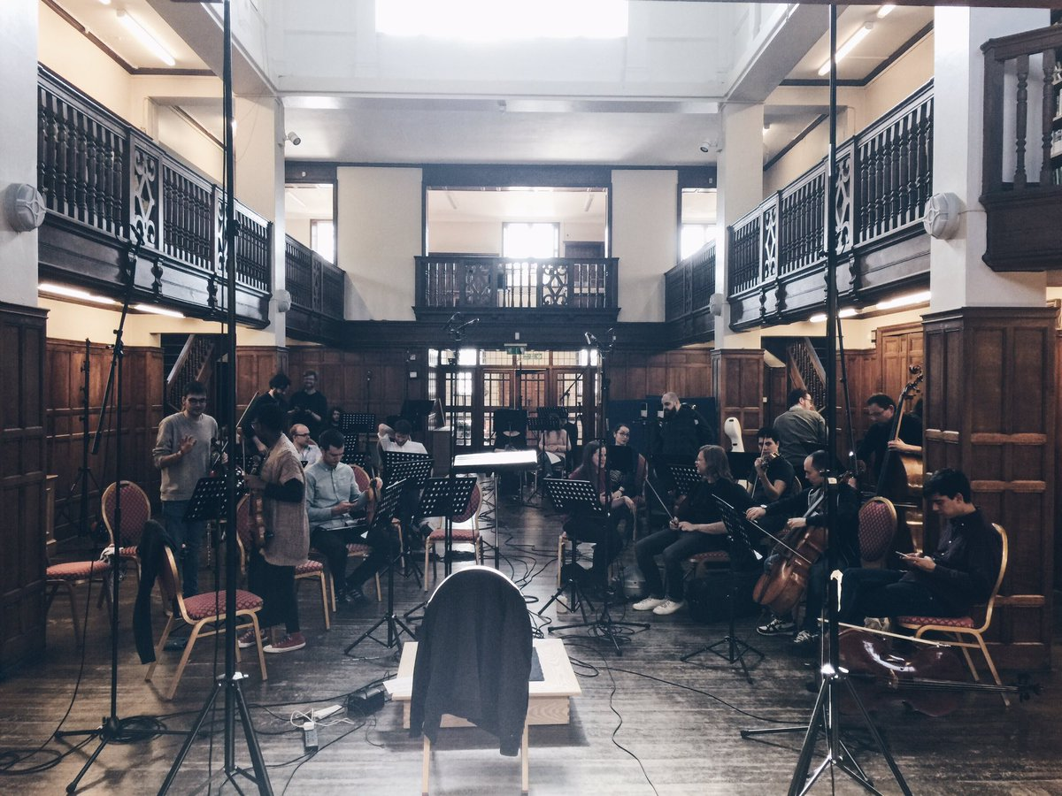 Setup & conducted an orchestral recording session at Charlton House today. #showyourwork