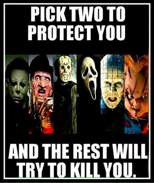 Jason and Michael. #classichorror #obessedwithhorror #horrorlover #horrorobsessed #horrorislife #horrorfanforlife #horrorfan4life<br>http://pic.twitter.com/0vo3Fax1b5