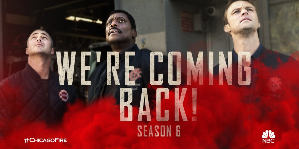 Fire department, call out! Season 6 of #ChicagoFire is coming back to @NBC.
