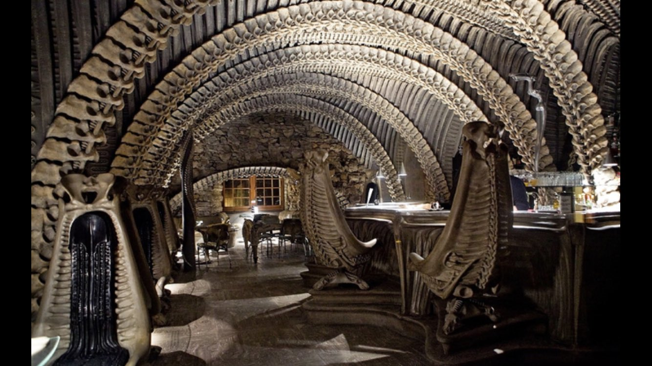 The HR Giger Bar in Switzerland may not be everyone's cup of tea but fair play it's a bold choice. https://t.co/6MLNL9XuUW