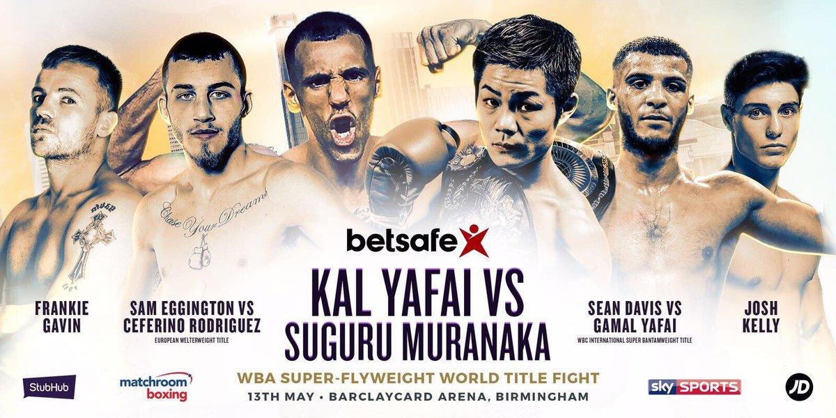 Image result for Kal Yafai vs. Suguru Muranaka live pic logo