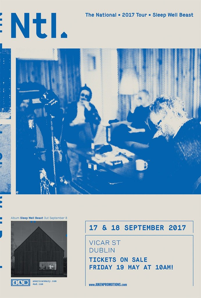 The National Sep 17 & 18 @Vicar_Street https://t.co/ehIFYHrjTQ