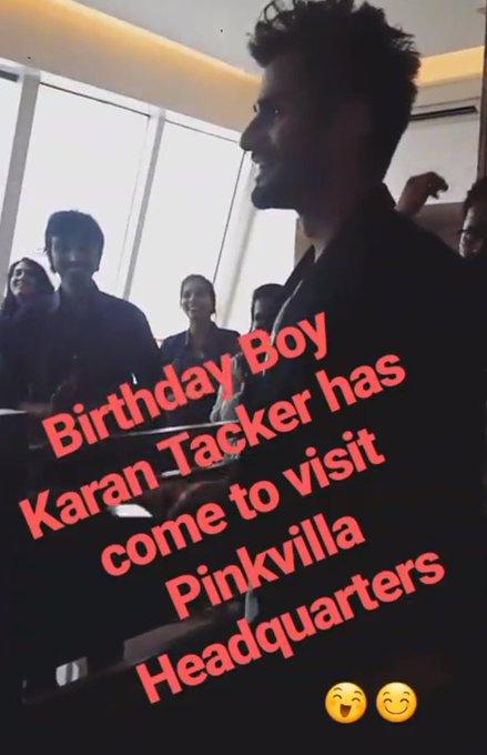 at Headquarters :)   Happy Birthday Karan Tacker
