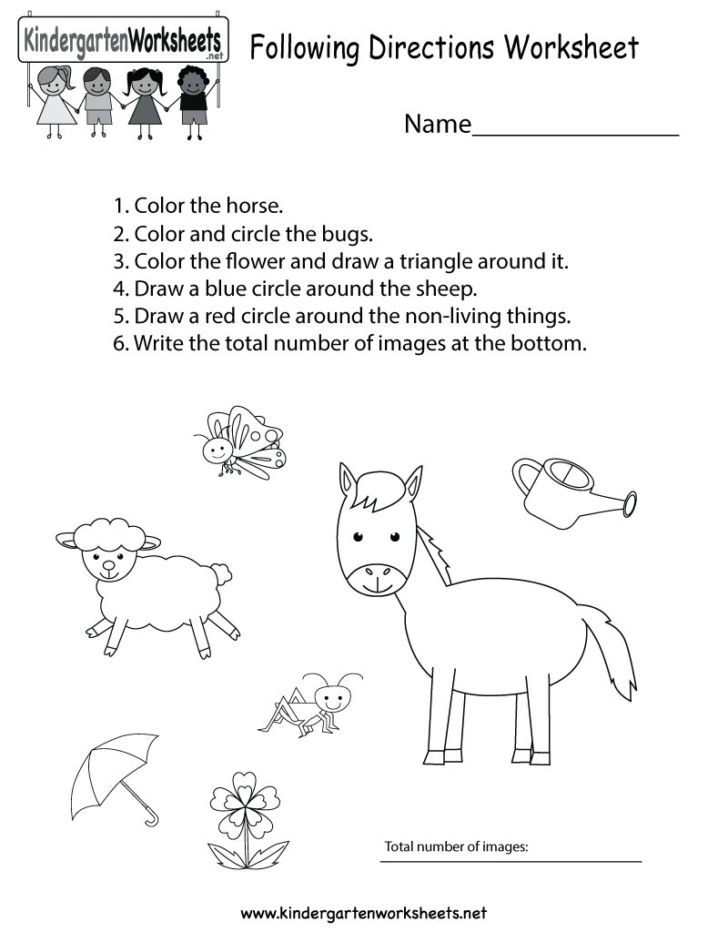 worksheet Follow Directions Worksheet kindergarten wsheets on twitter this free worksheet reinforces how important it is to follow directions kids can color draw