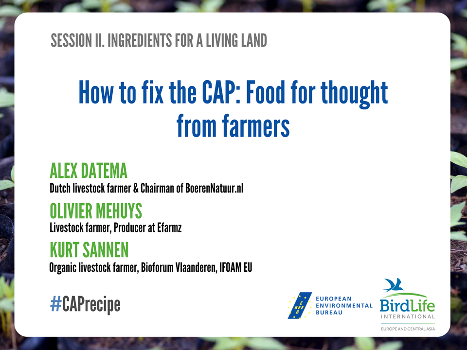 We're back! Stage now is given to farmers, the people without whom no change to CAP is possible #CAPrecipe #LivingLand