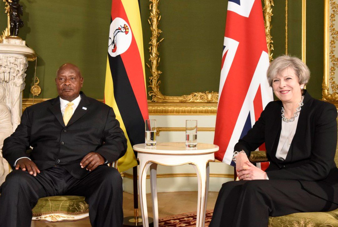 Prime Minister Theresa May holds bilateral meeting with Ugandan President Museveni at the London Somalia Conference today. #FutureforSomalia https://t.co/eAosLFX5xQ