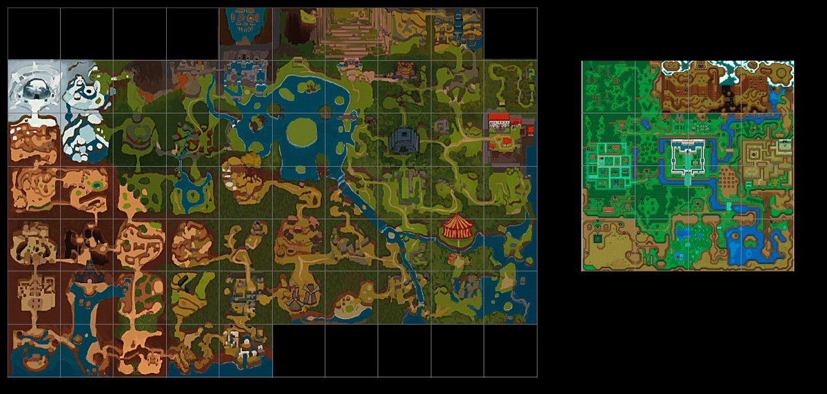 Link To The Past Light World Map.Calamity Ri Warui On Twitter Link To The Past Is Obviously A Big