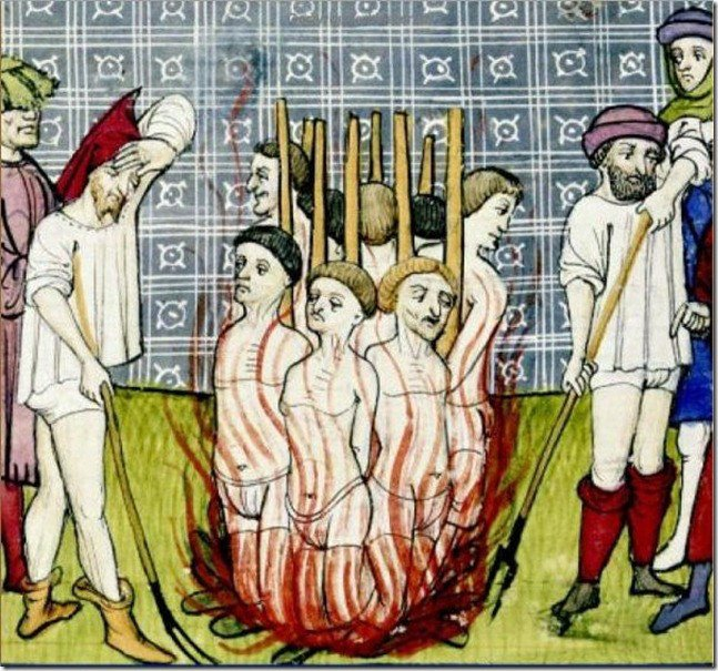 #OnThisDay in 1310, Fifty-four members of the Knights Templar are burned at the stake in France for being heretics.