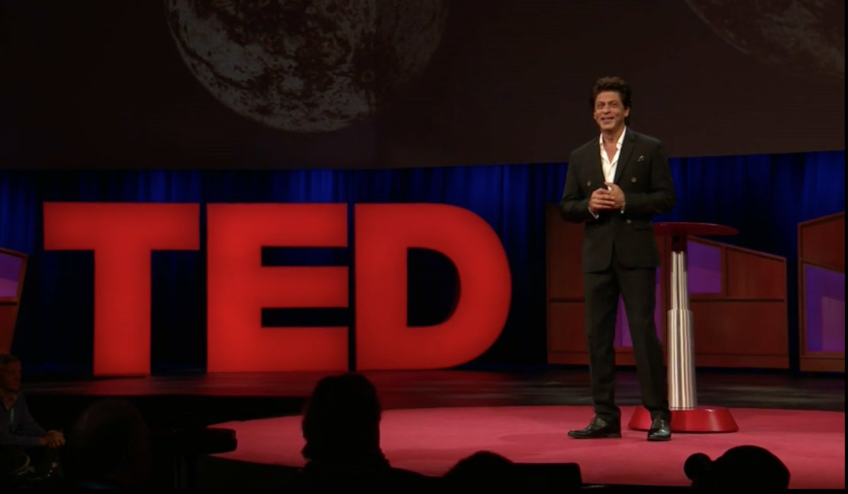 Here it is. The hilarious, moving TED Talk from the world's biggest movie star @iamsrk https://t.co/uZSldnF93b https://t.co/1YAl3ojzHg