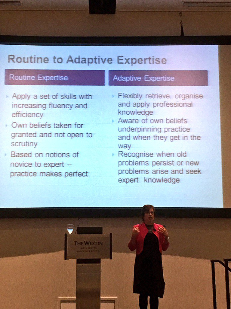 Masterclass with Helen Timperley @noiiaesn Vancouver #noii2017 shifting mindsets routine to adaptive https://t.co/FE8CpzMNgN