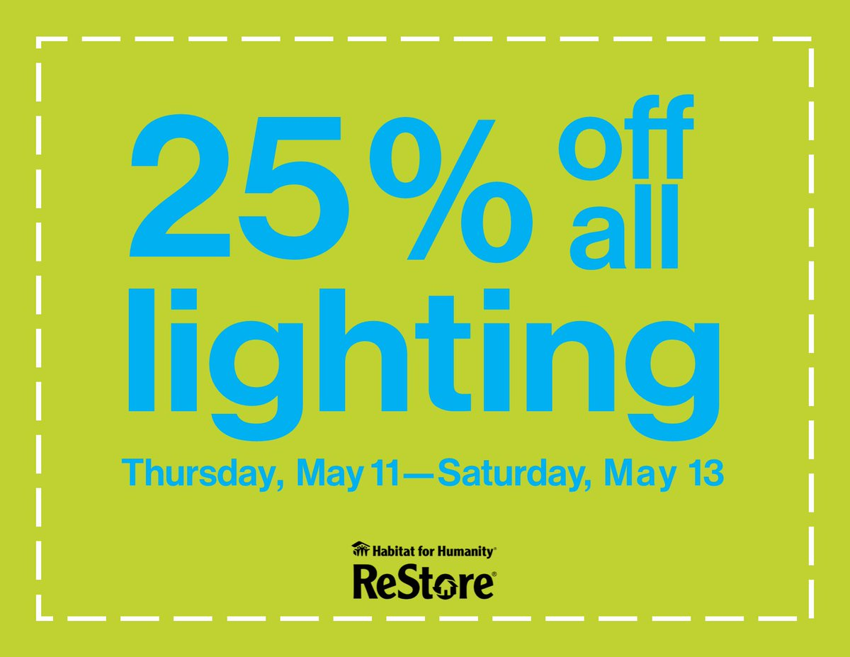 Habitat Nova Scotia On Twitter Light Up Your Life With A Great Deal On Lighting Fixtures Restore Halifax Is Currently 25 Off All Lighting