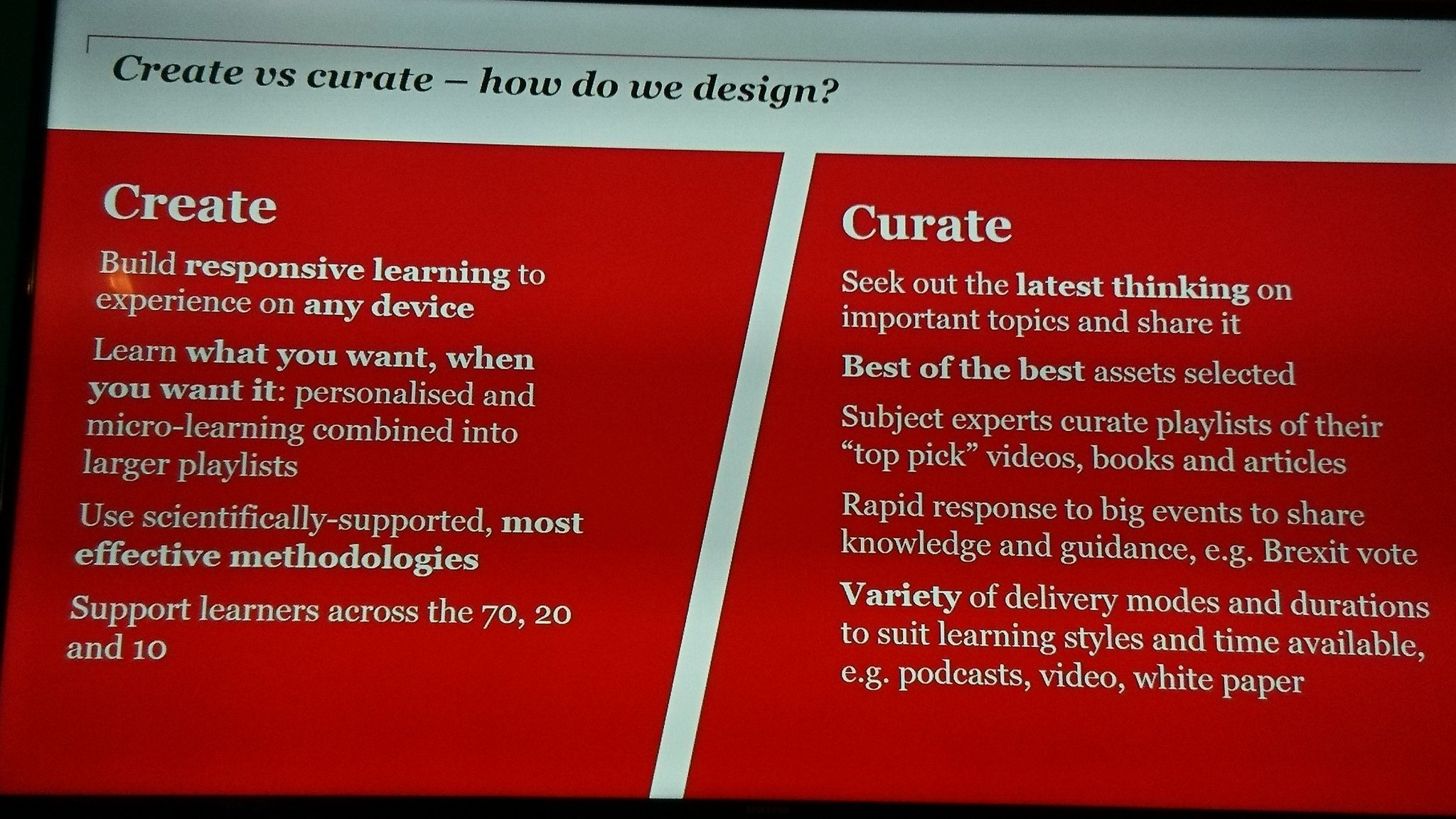 .@PriceKisskadee @sarahlindsell Nice summary of creating vs curating for learning from @sarahlindsell #G2 #cipdLDshow https://t.co/pgFRYCNcmK