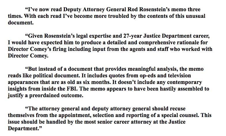 Rod Rosenstein Memo