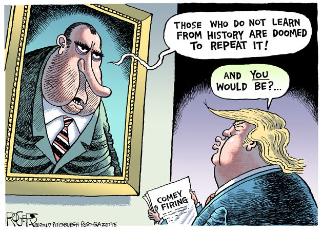 Image result for trump nixon cartoon