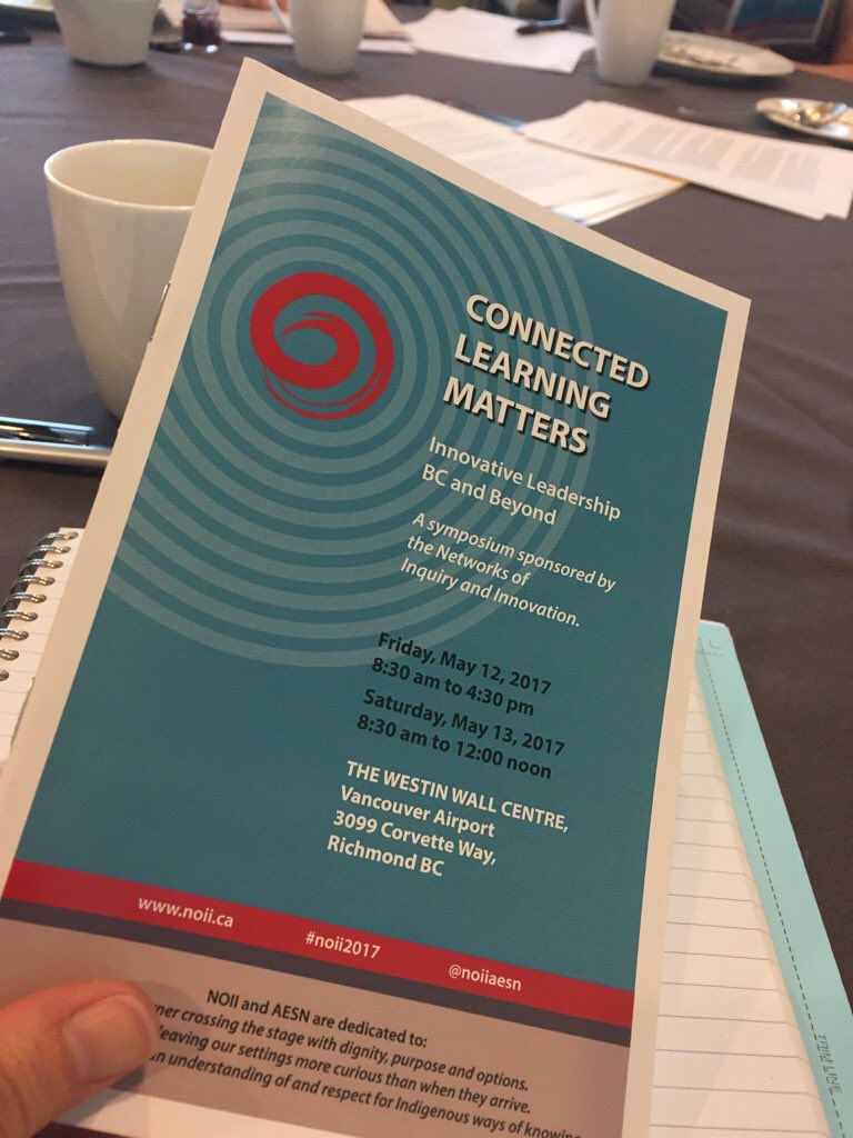 Connected Learning Matters. Ready to dive into 3 days of learning, networking and engaging. This is so much about what matters. #noii2017 https://t.co/PALwpTELmk