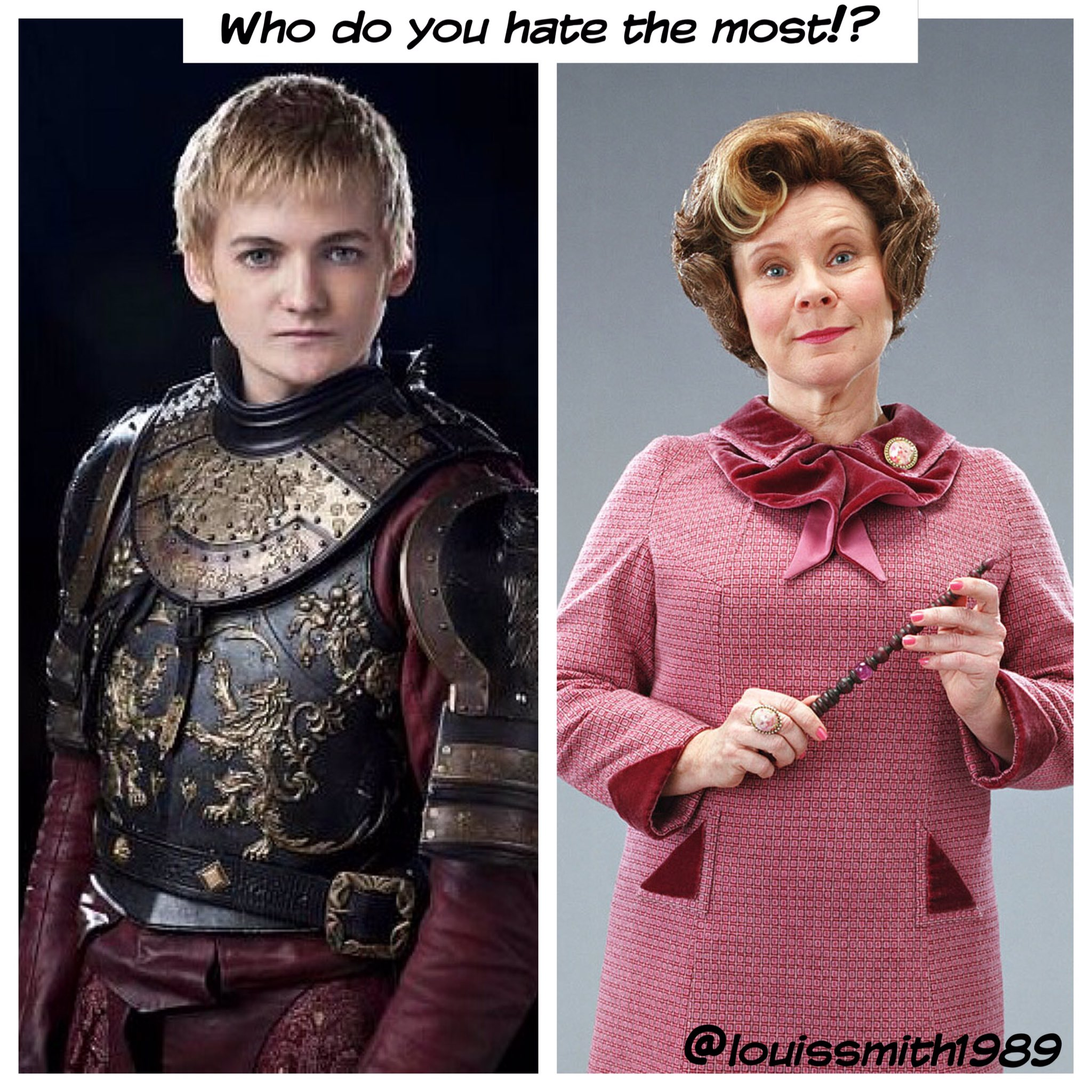 Who do you hate the most!!!? Hmmm I think I'm still Dolores Umbridge!!! https://t.co/DBLrv7dzMU