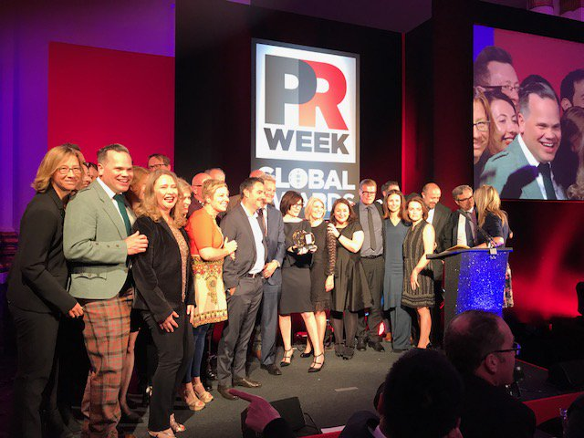 Honored to be named Global Agency of the Year by @PRWeekGlobal for the third consecutive year! #PRWeekGlobalAwards https://t.co/ZmFhg40PY8