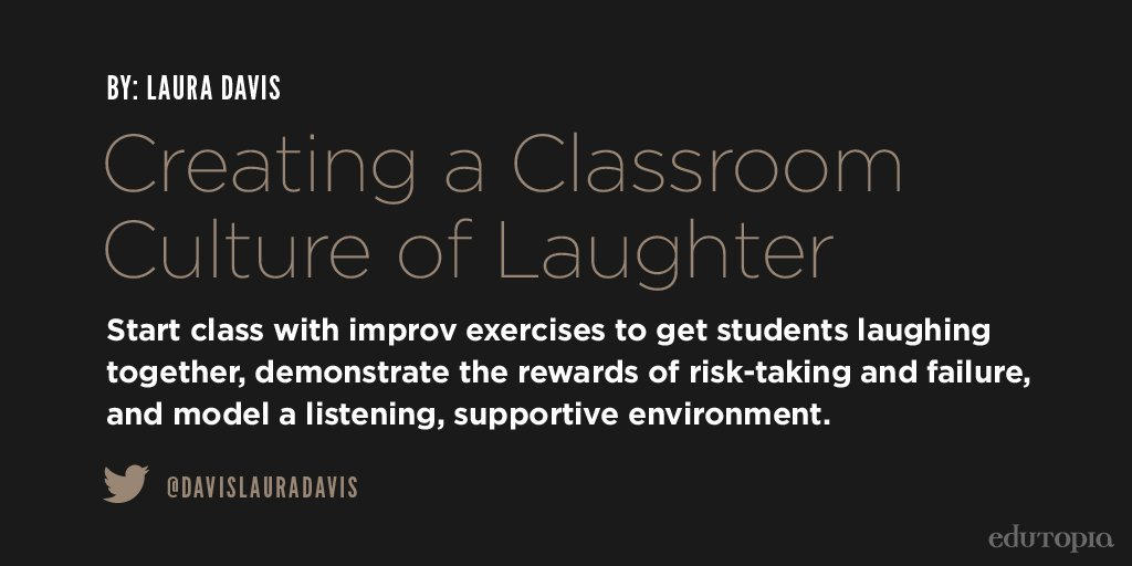 A class that laughs together, stays together:  http:// edut.to/2r1jEh7  &nbsp;   v. @edutopia @davislauradavis <br>http://pic.twitter.com/NsJBP7yFx9 #edchat #engchat