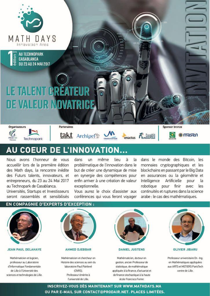 #MathDays #Event #Événement #Maths #Mathematiques #Talents #startup #Innovation #Casablanca #Maroc #Morocco
