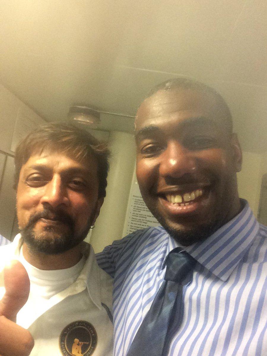 @KicchaSudeep Great meeting you today buddy
