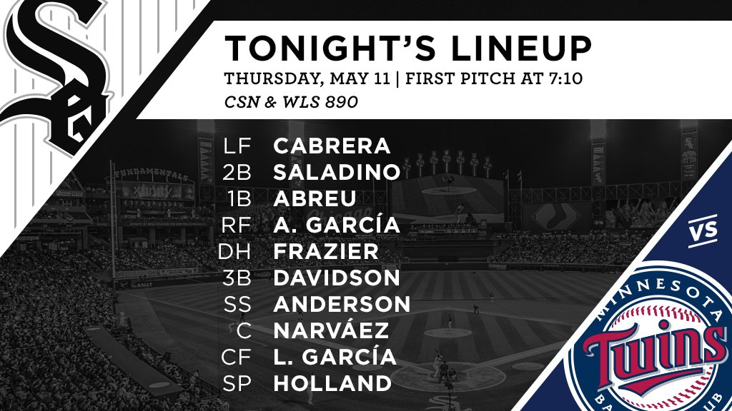 Tonight's #SoxGameDay starters: https://t.co/aymsTAk7w6