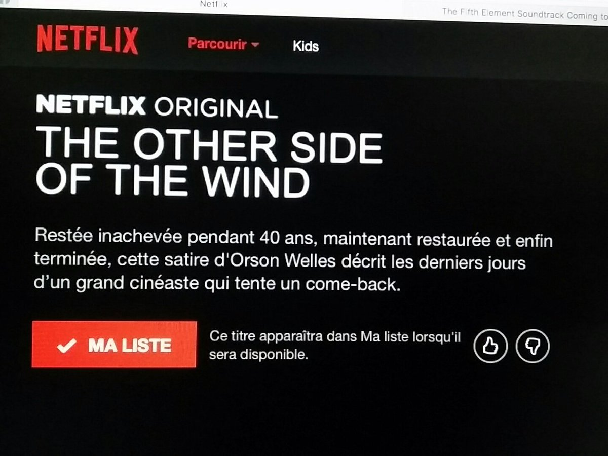 It's coming... At last ! The Other Side of The Wind in 2018 on Neflix. #OrsonWelles #Welles #TheOtherSideofTheWind #Tosotw