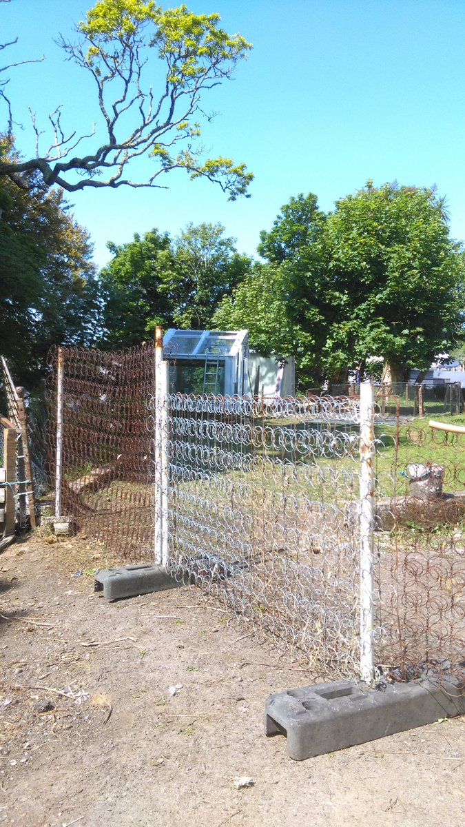 Stephen Gannon On Twitter Temporary Chicken Fence From Old Mattress Springs