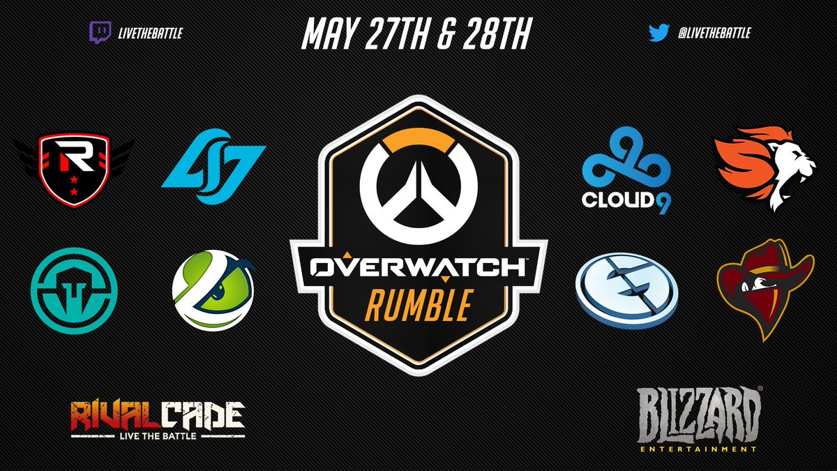 Meet The 8 Invited Teams Of This Months Rivalcade OverwatchRumble Action Starts With Finding Next Qualified On May 26thpictwitter