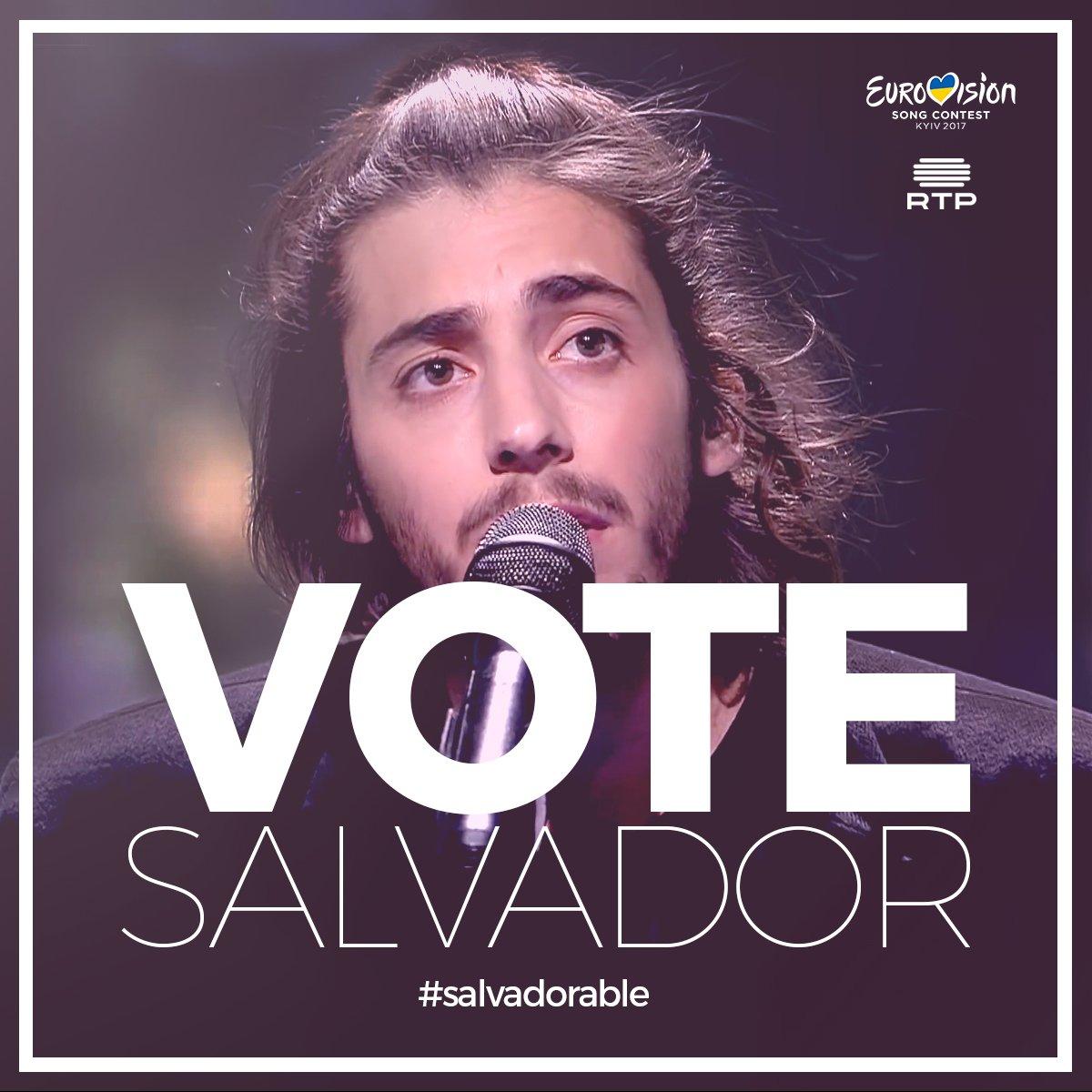 Vamos fazer de Portugal o vencedor do #Eurovision. Passe a mensagem aos seus amigos em todo o mundo! #salvadorable https://t.co/M3RBl738pY