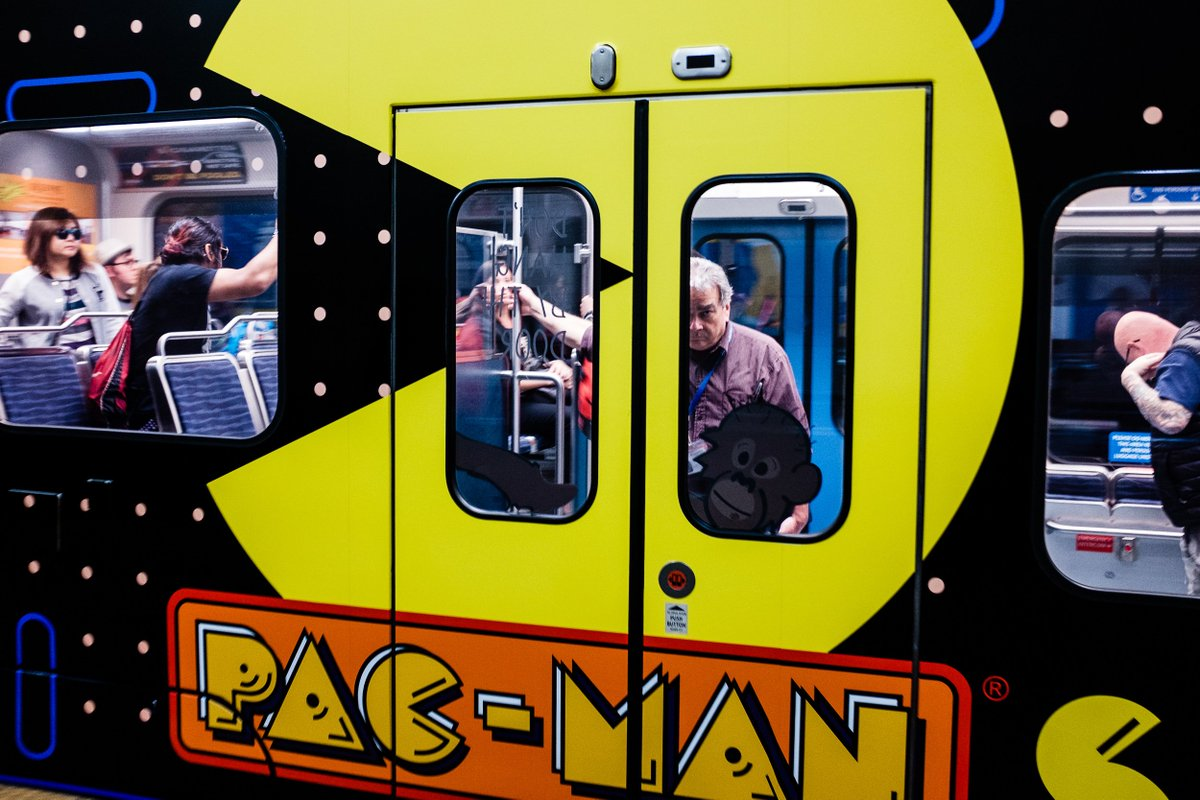 #PacMan took over the lightrail! @SoundTransit #seattle https://t.co/FO2GRc52nD