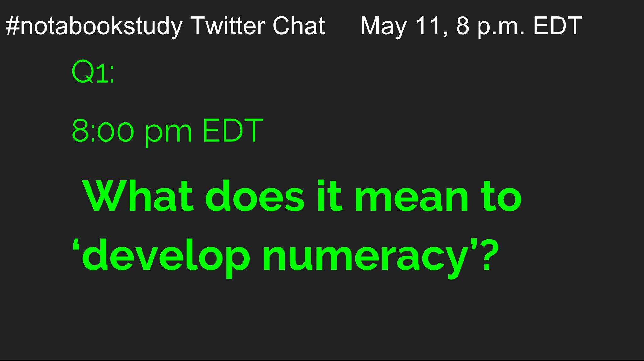 Our first question.   #notabookstudy https://t.co/Opj14qliKj