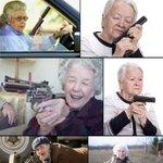 お婆ちゃんが銃を構えてるだけなのに『gun grandma』の検索結果がたまらない