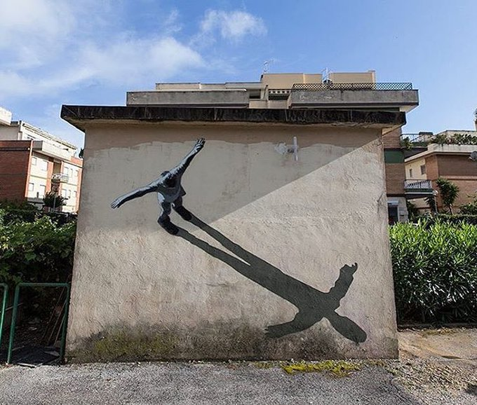 Street Art by Strøk in Terracina Italy 🇮🇹   #streetart #art #arte